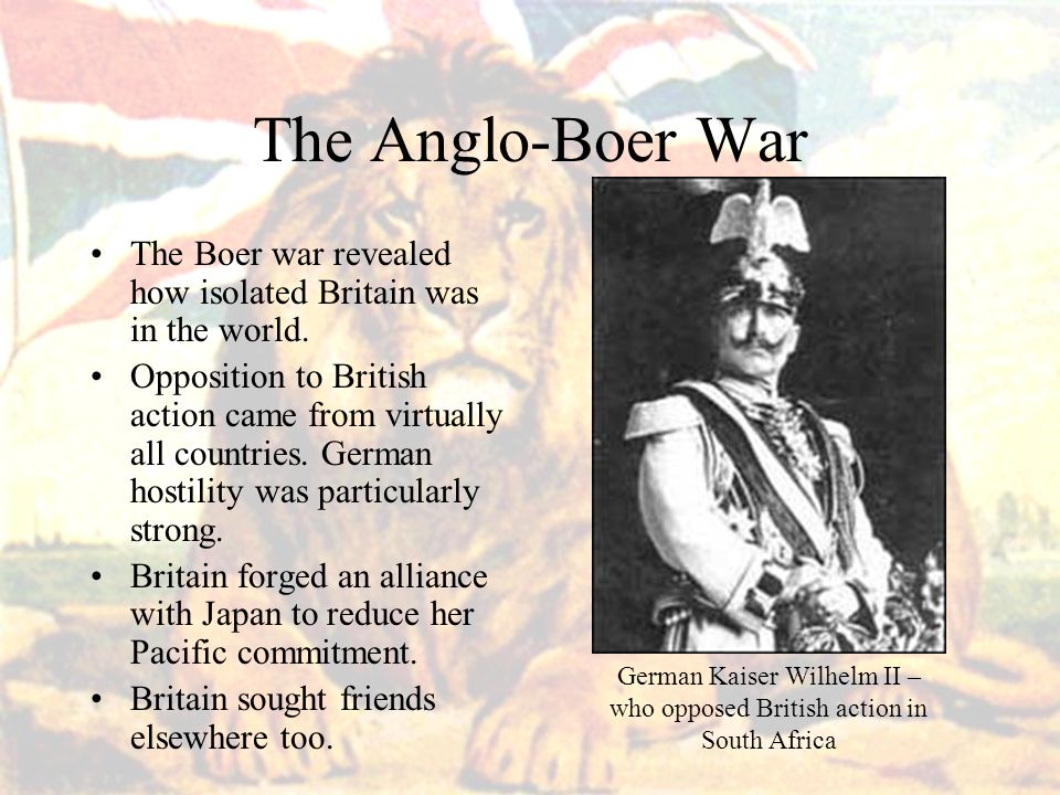 German Kaiser Wilhelm II – who opposed British action in South Africa