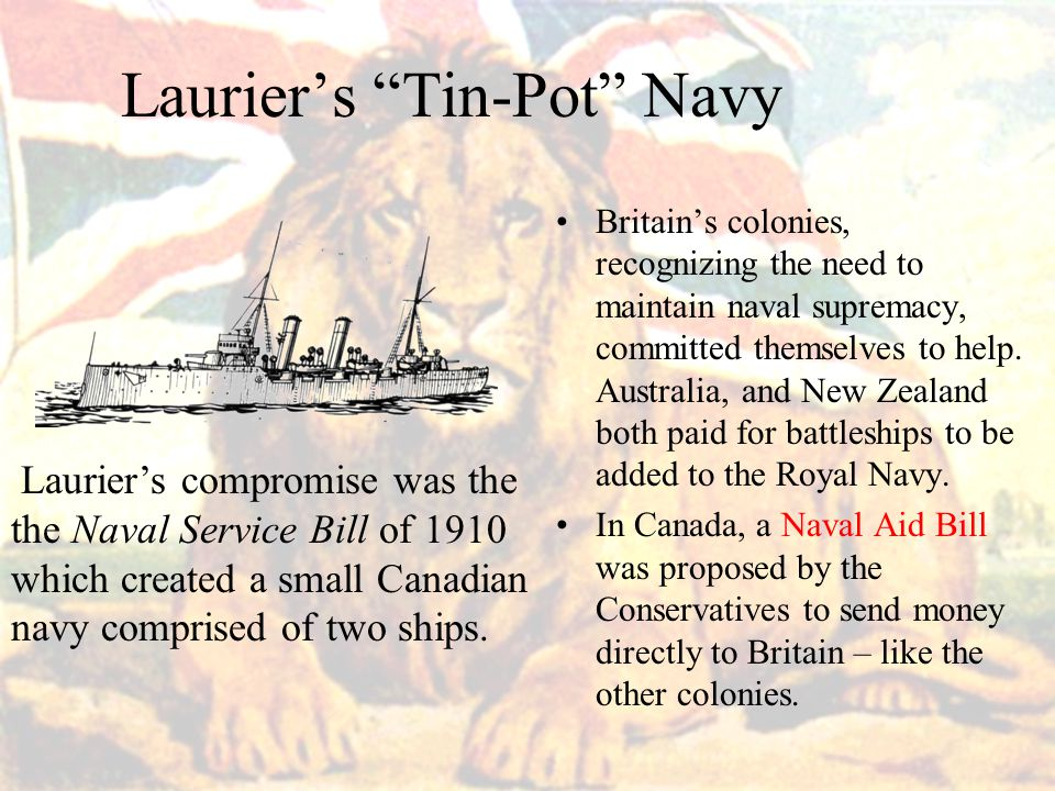 Laurier's Tin-Pot Navy