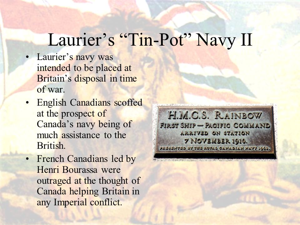 Laurier's Tin-Pot Navy II