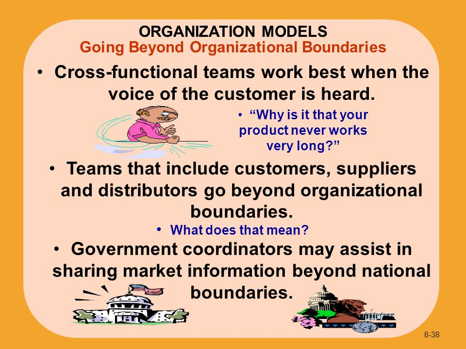 Going Beyond Organizational Boundaries