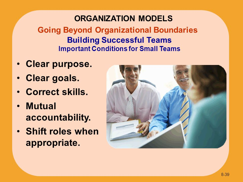 Building Successful Teams Important Conditions for Small Teams