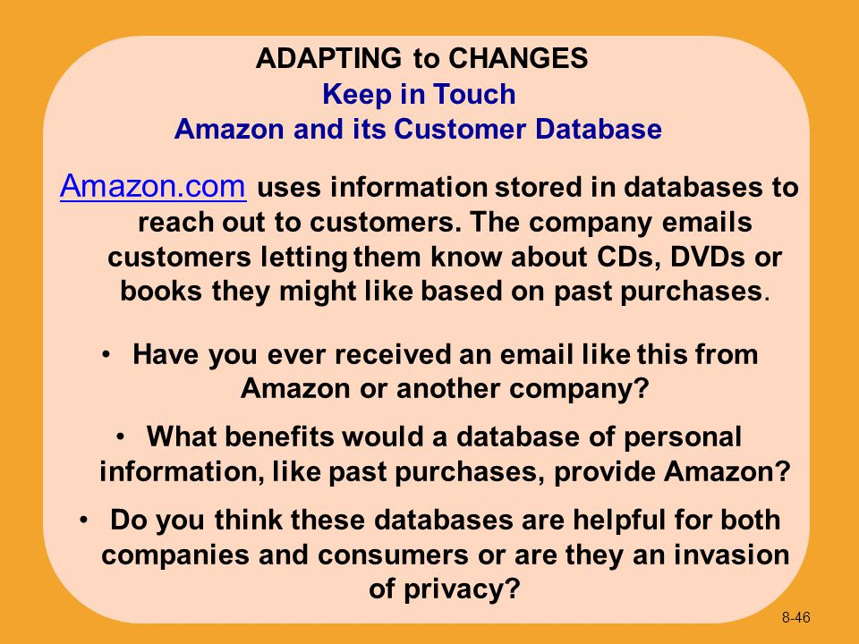 Amazon and its Customer Database