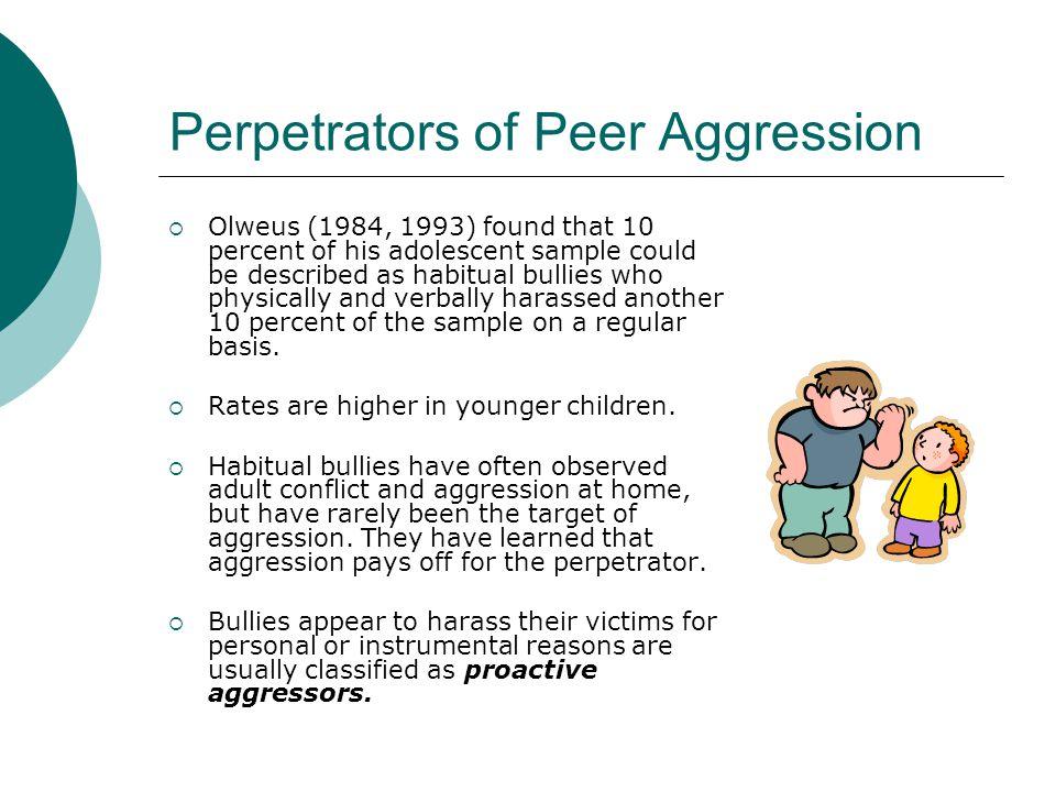 Perpetrators of Peer Aggression