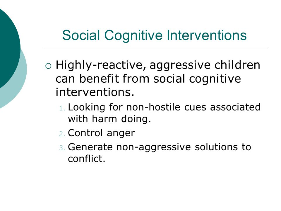 Social Cognitive Interventions