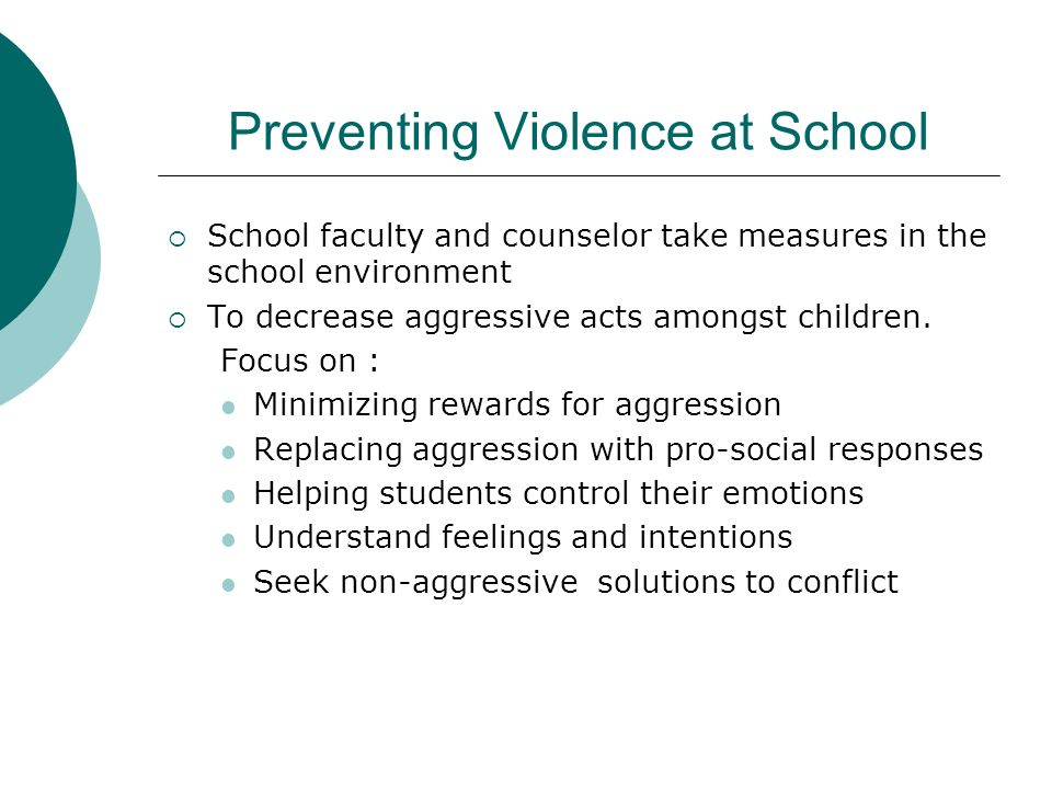 Preventing Violence at School