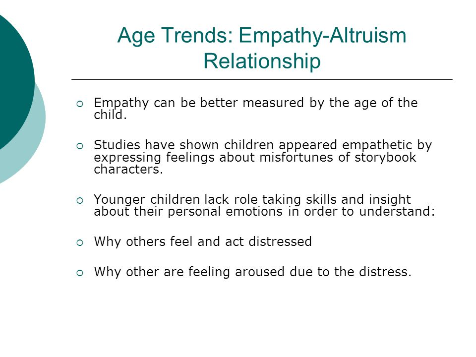 Age Trends: Empathy-Altruism Relationship