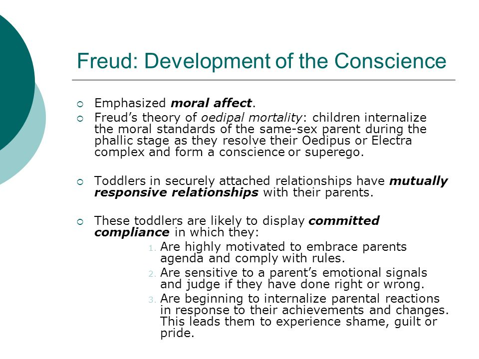 Freud: Development of the Conscience