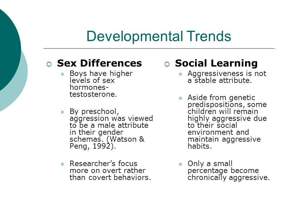 Developmental Trends Sex Differences Social Learning