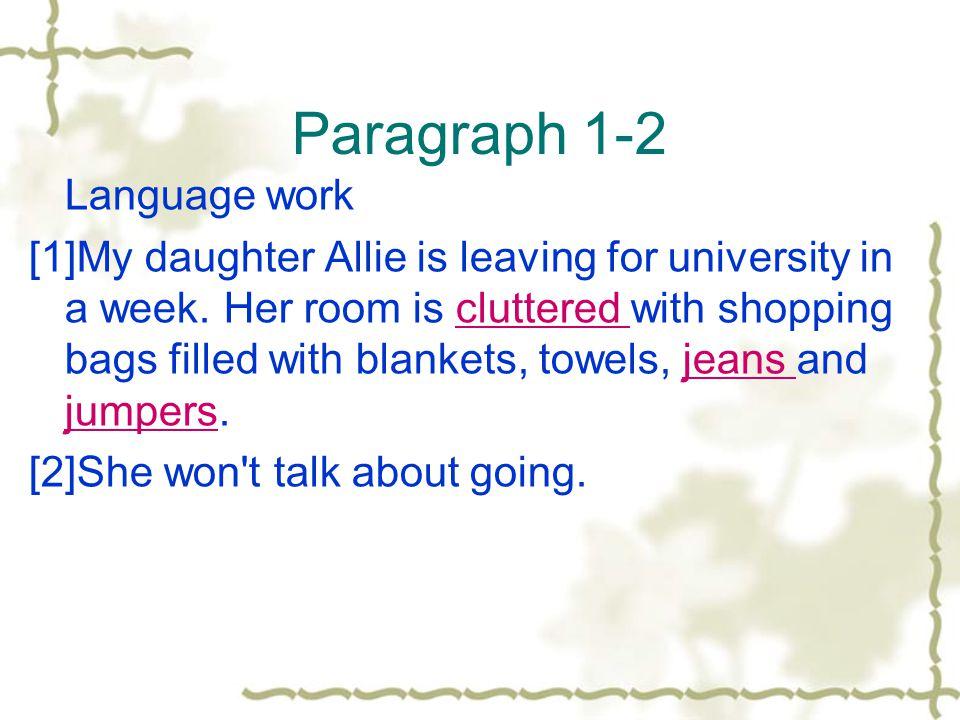 Paragraph 1-2 Language work