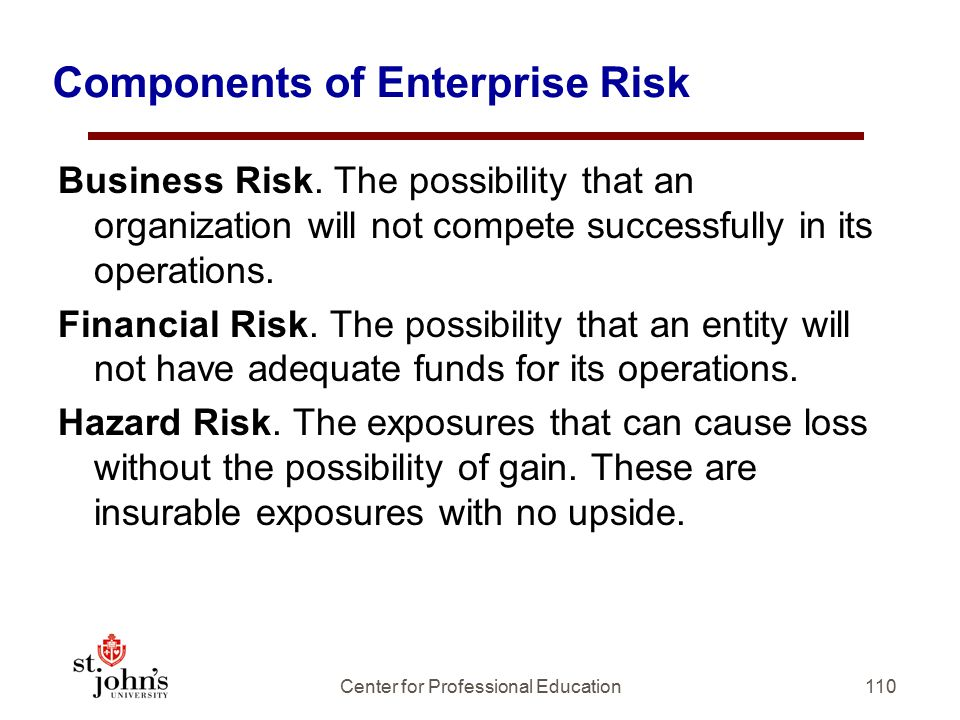 Components of Enterprise Risk
