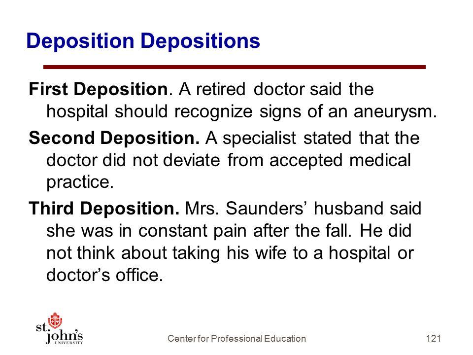 Deposition Depositions