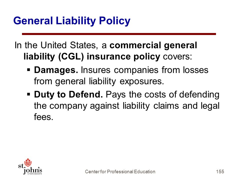 General Liability Policy