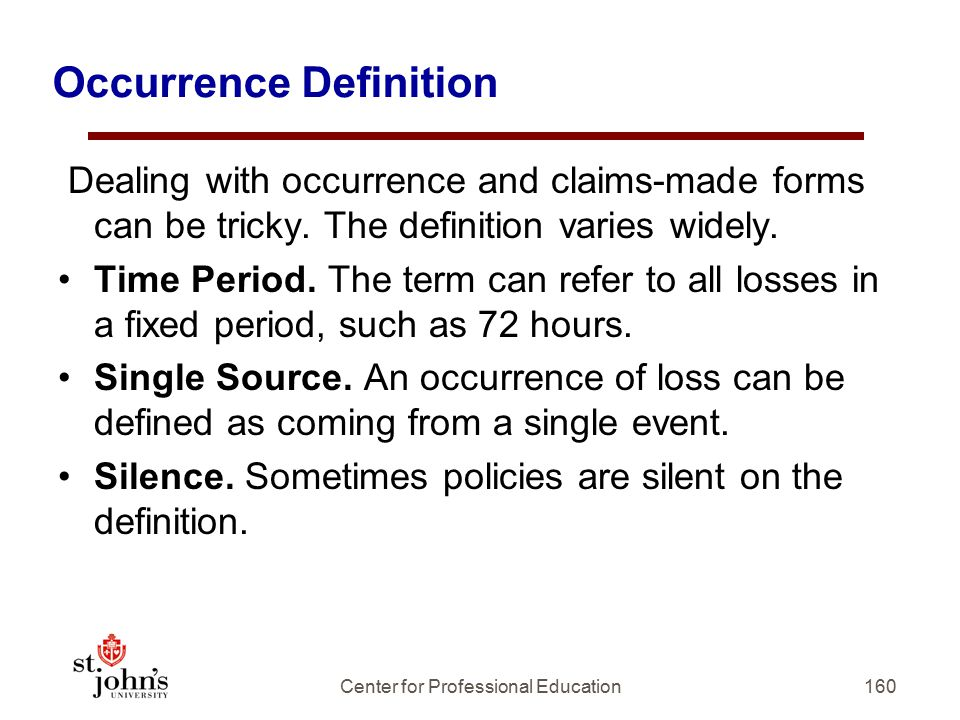 Occurrence Definition