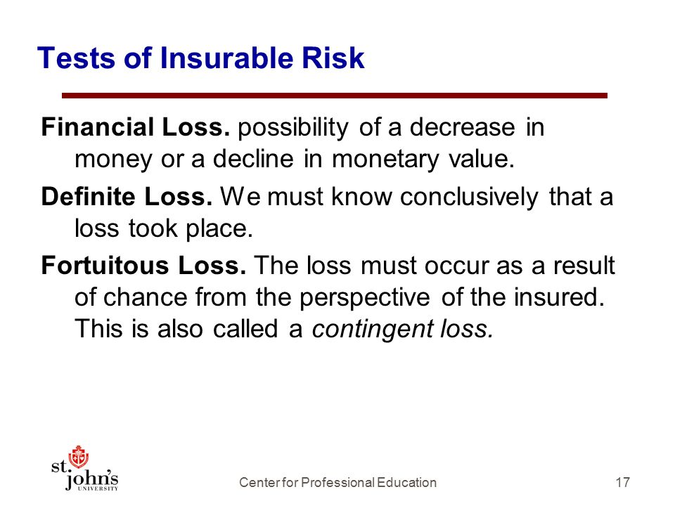 Tests of Insurable Risk