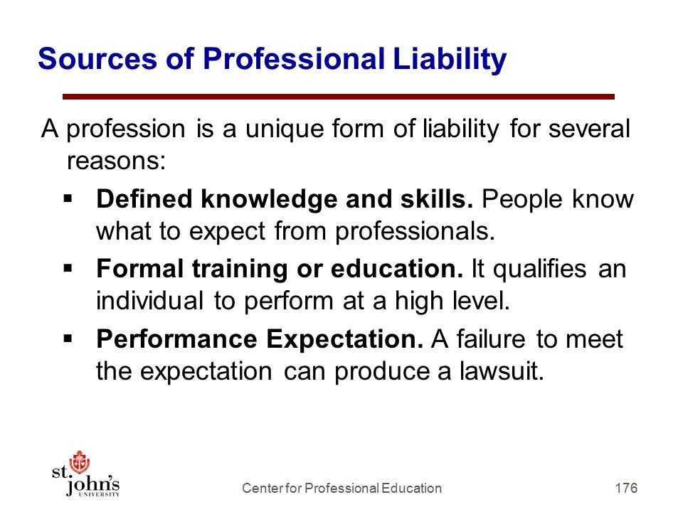 Sources of Professional Liability
