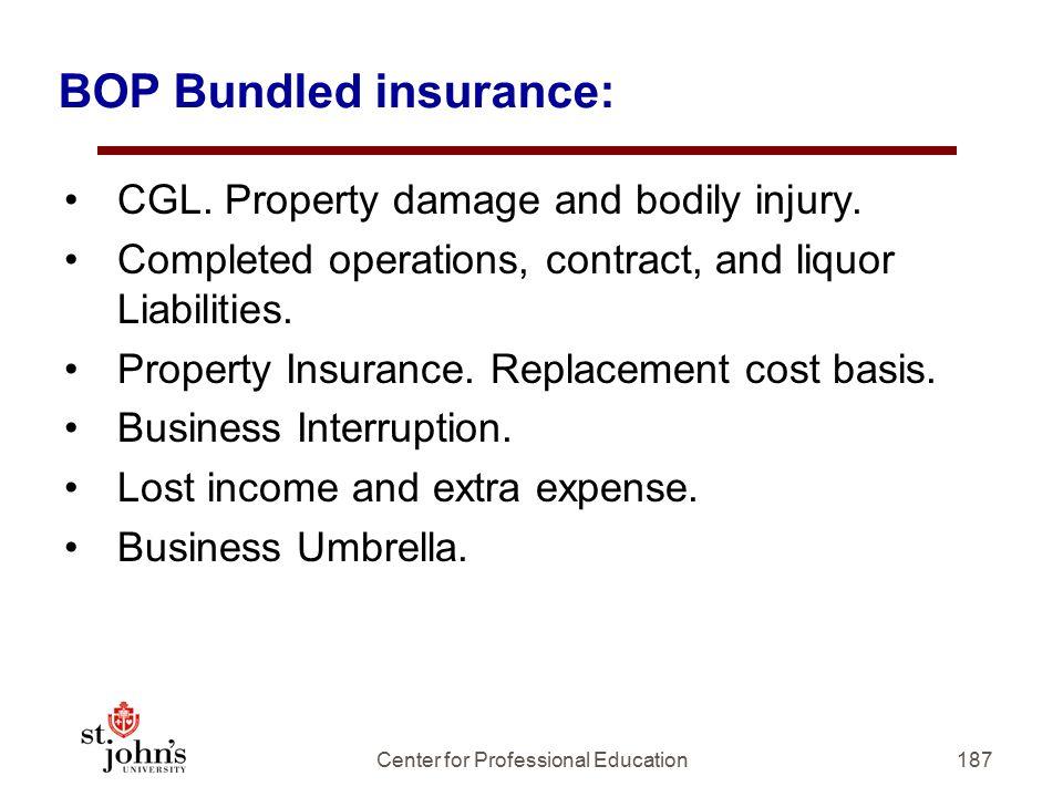 BOP Bundled insurance: