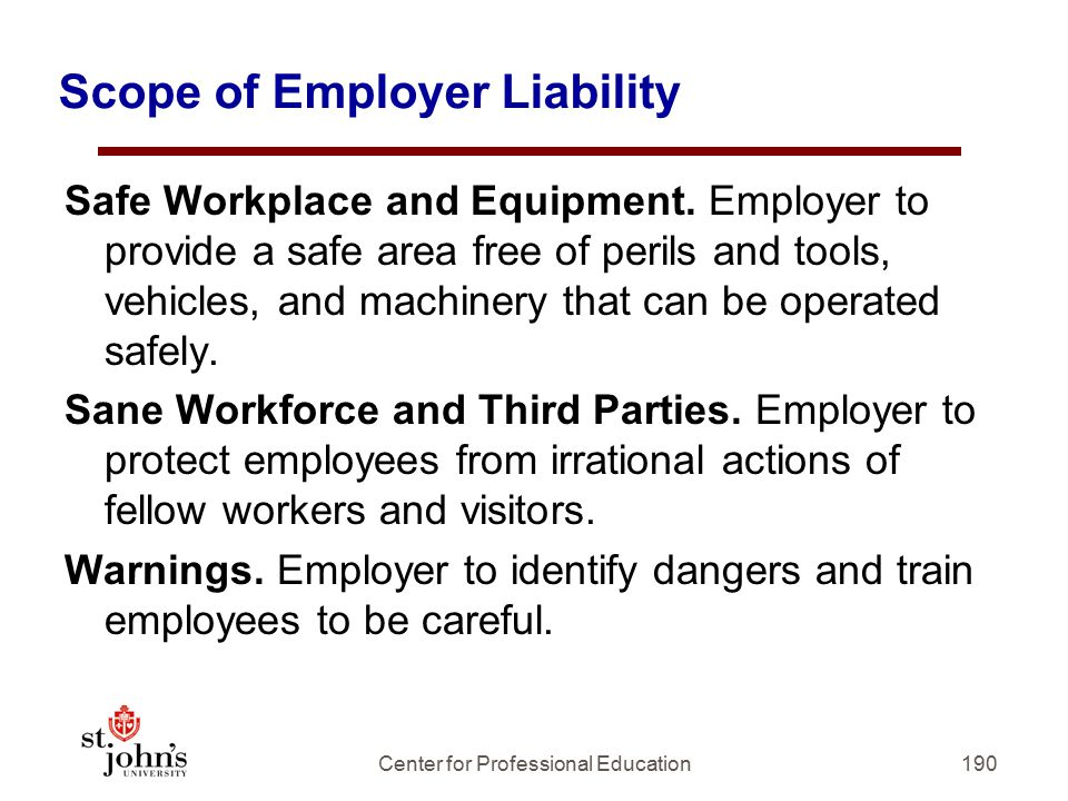 Scope of Employer Liability