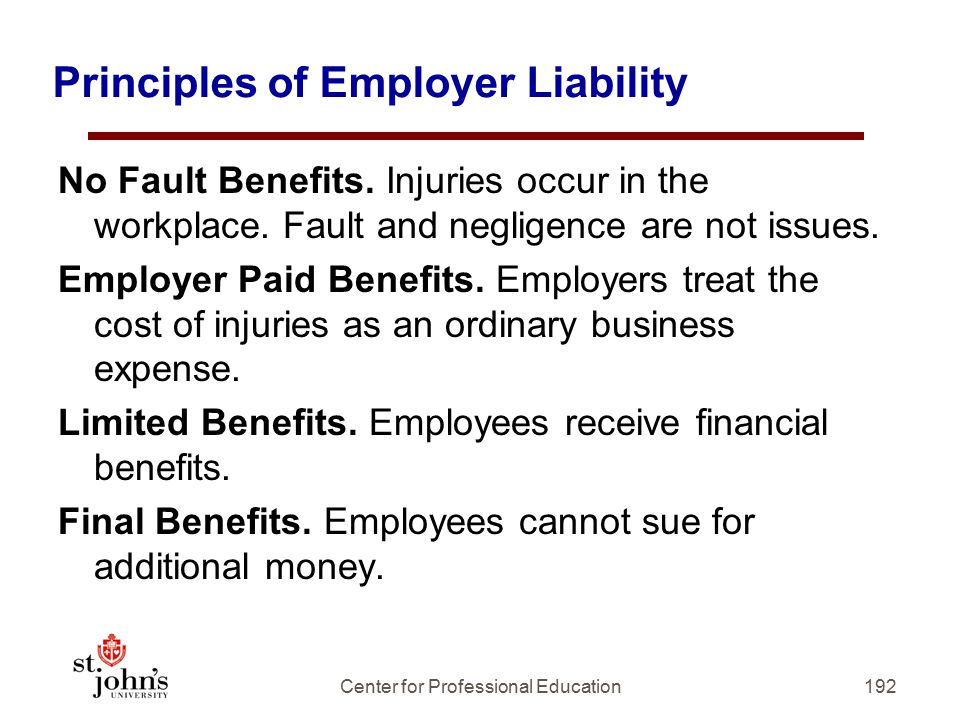 Principles of Employer Liability
