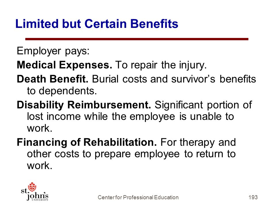 Limited but Certain Benefits
