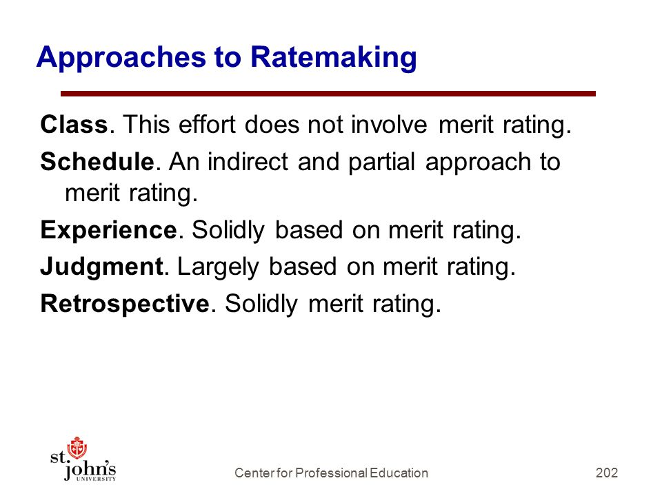 Approaches to Ratemaking