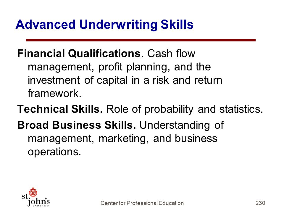 Advanced Underwriting Skills