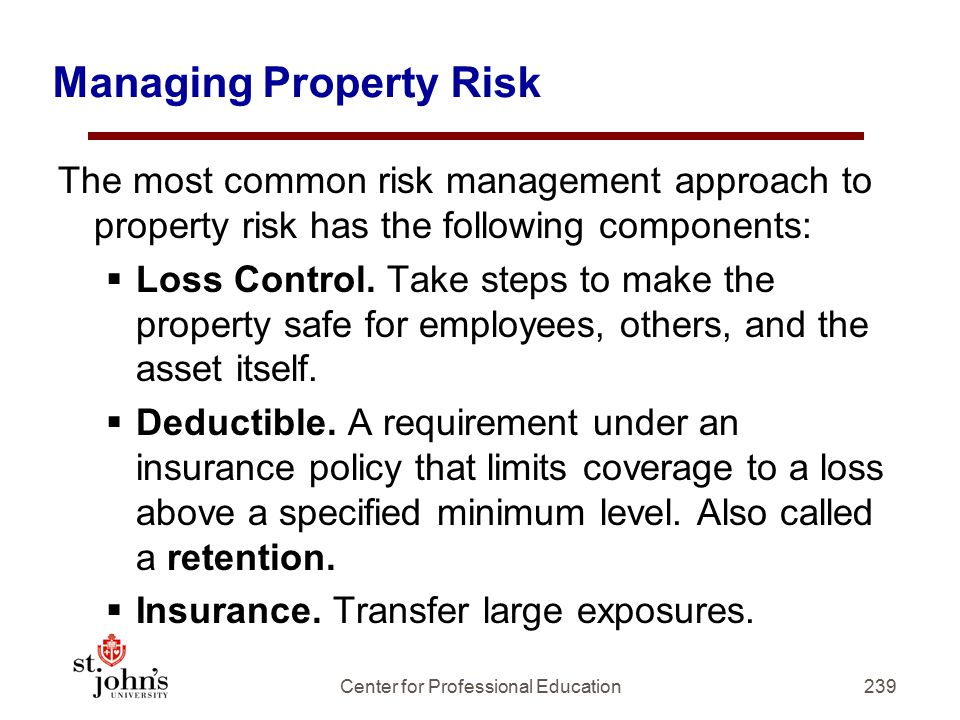 Managing Property Risk