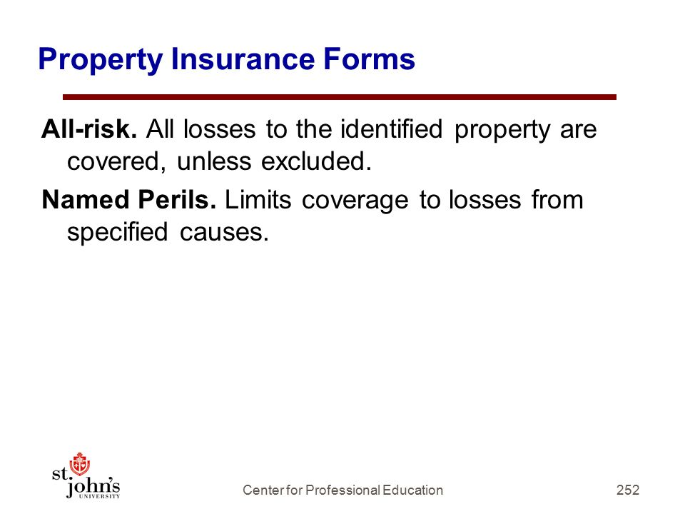 Property Insurance Forms
