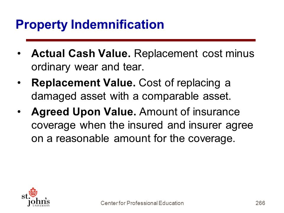 Property Indemnification