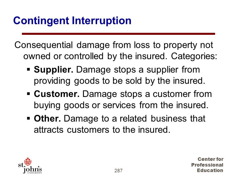 Contingent Interruption