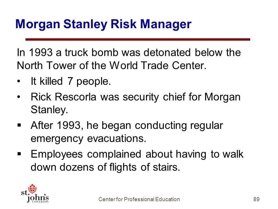 Morgan Stanley Risk Manager