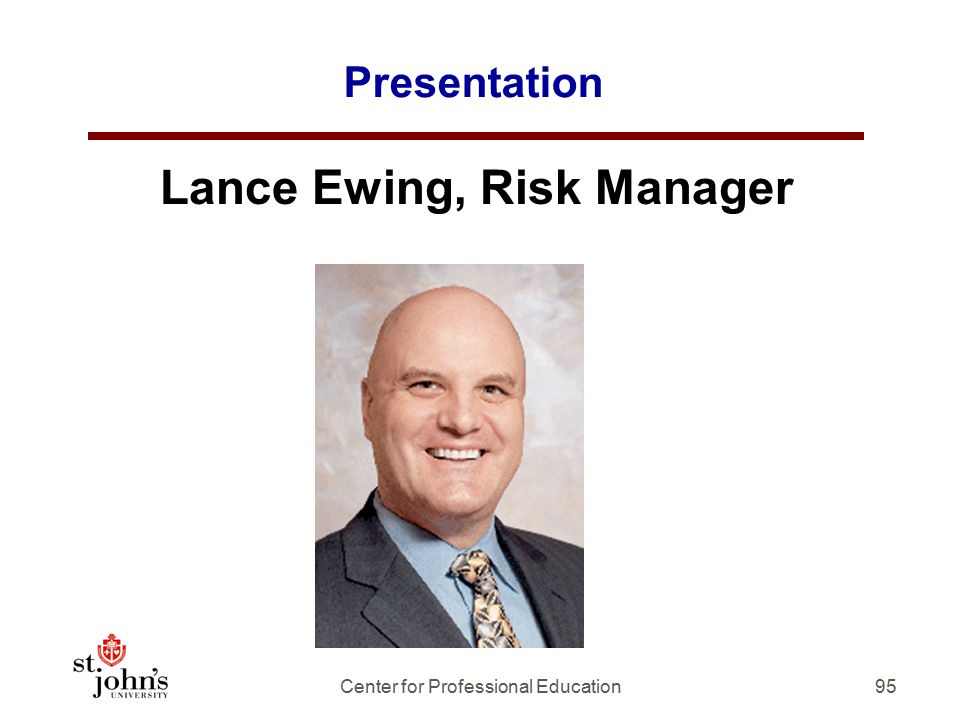Lance Ewing, Risk Manager