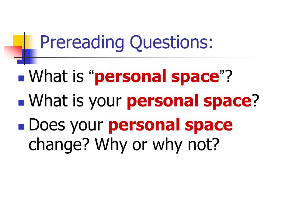 Prereading Questions: