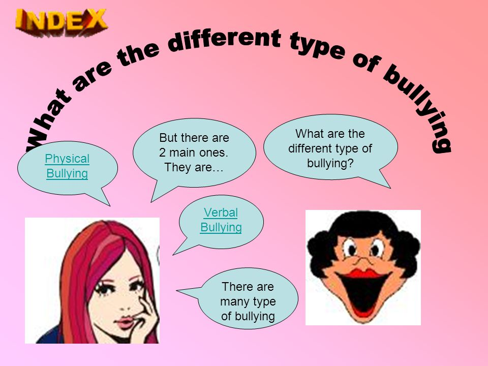 What are the different type of bullying
