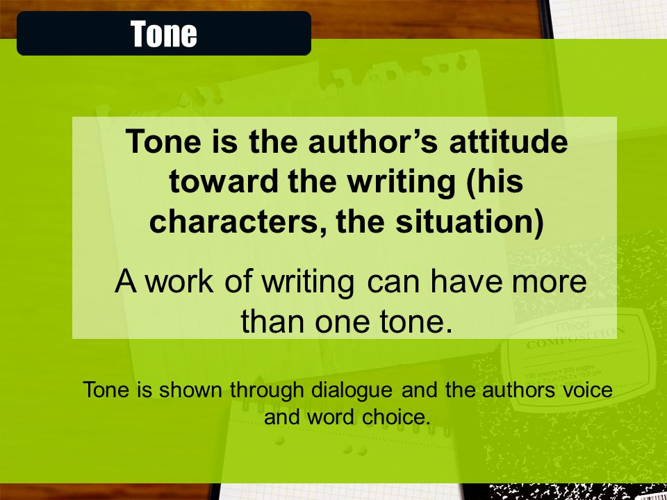 A work of writing can have more than one tone.