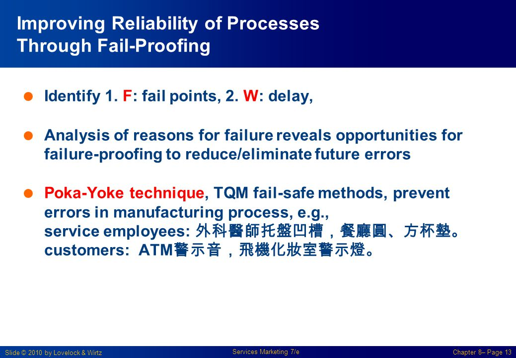 Improving Reliability of Processes Through Fail-Proofing