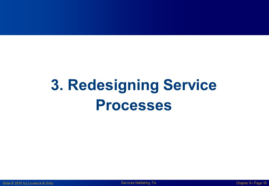3. Redesigning Service Processes