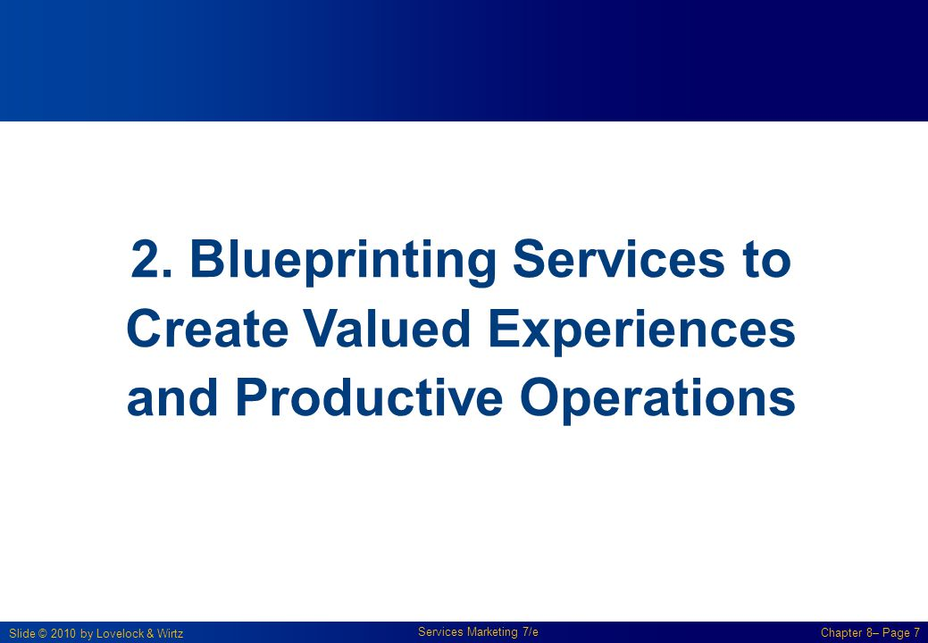 2. Blueprinting Services to Create Valued Experiences and Productive Operations
