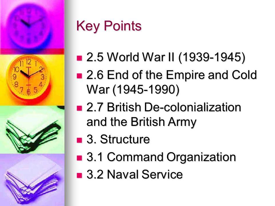Key Points 2.5 World War II (1939-1945)