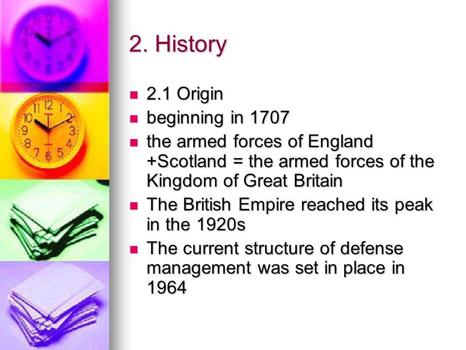 2. History 2.1 Origin beginning in 1707