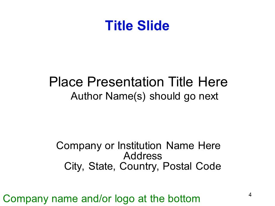 Place Presentation Title Here Author Name(s) should go next