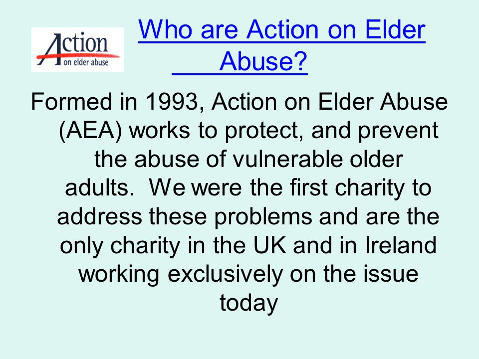 Who are Action on Elder Abuse