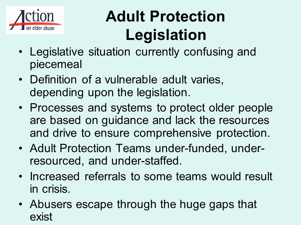 Adult Protection Legislation