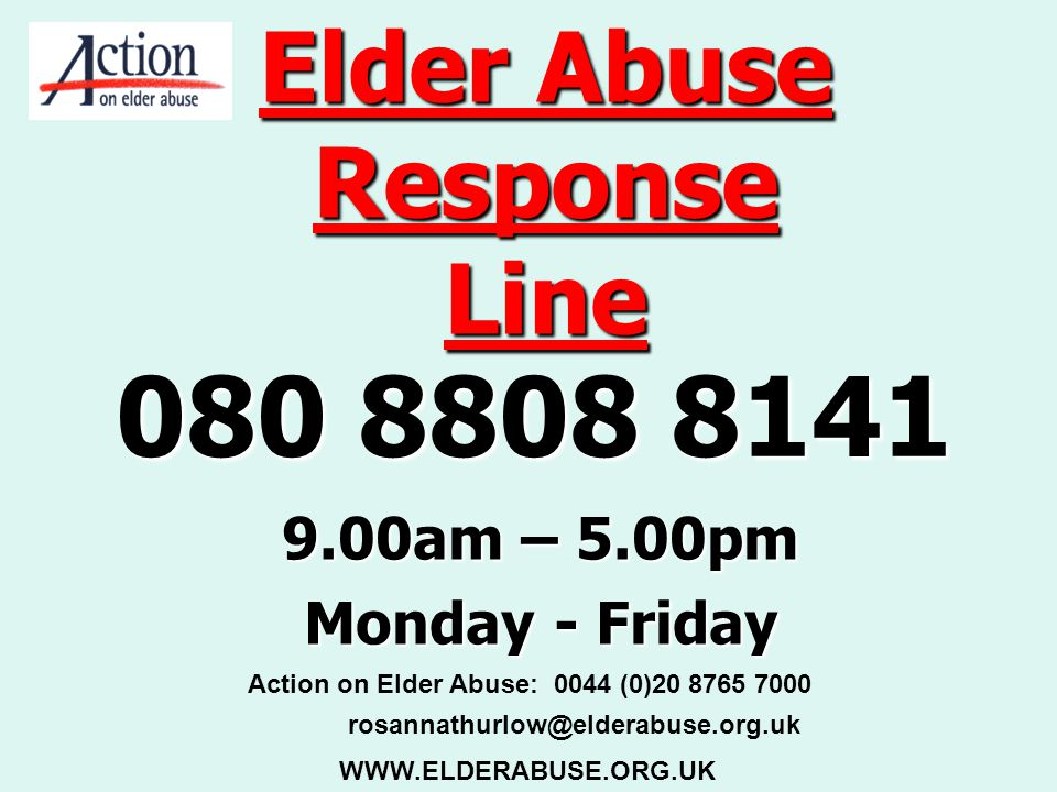 Elder Abuse Response Line