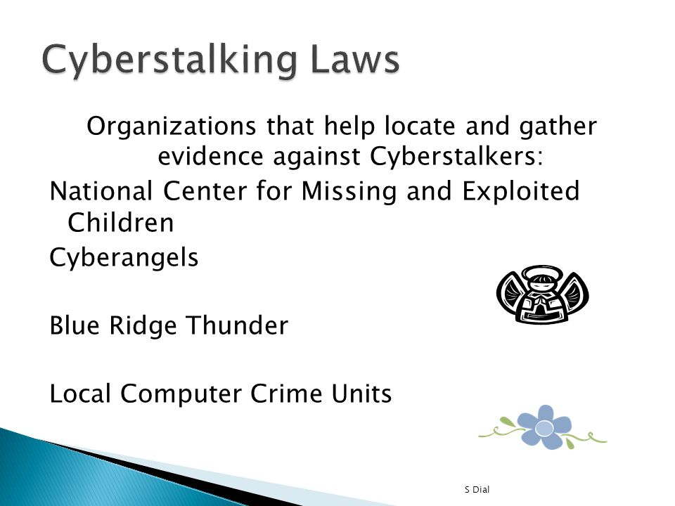 Cyberstalking Laws National Center for Missing and Exploited Children