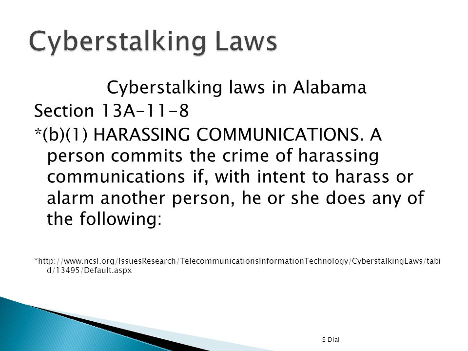 Cyberstalking laws in Alabama