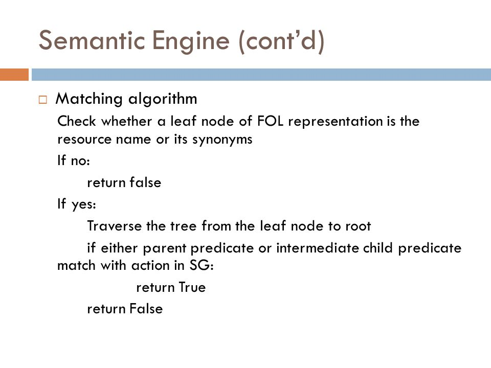 Semantic Engine (cont'd)