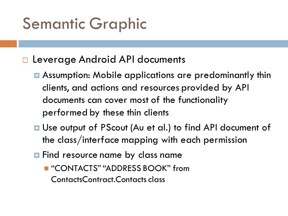 Semantic Graphic Leverage Android API documents