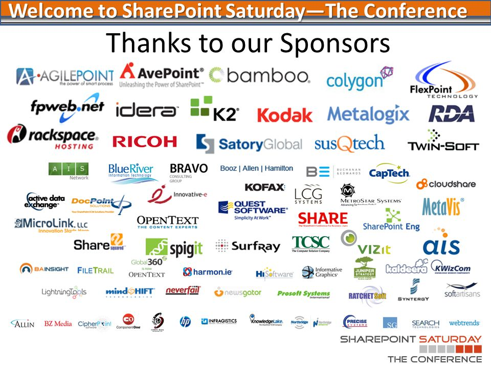 Thanks to Our Other Sponsors!