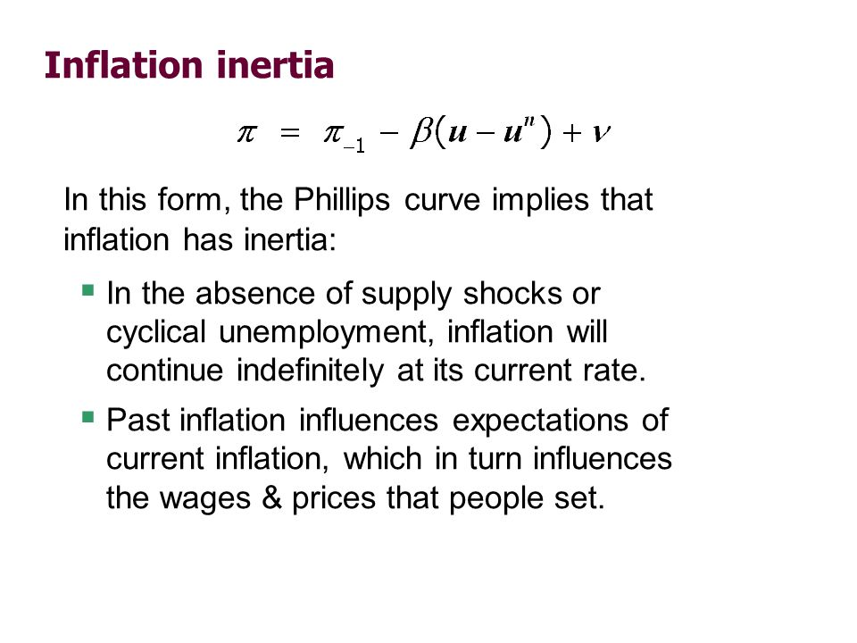 Two causes of rising & falling inflation