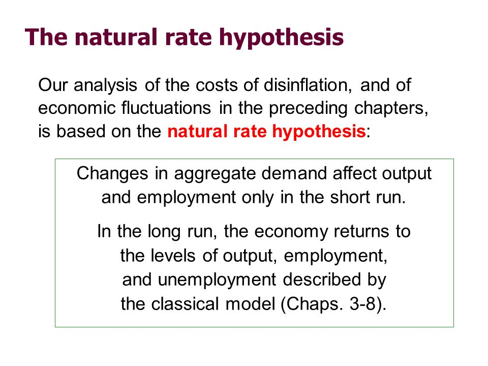 An alternative hypothesis: Hysteresis